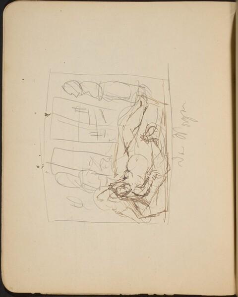 Liegender weiblicher Akt, Bezeichnung (Reclining Nude, Inscription) [p. 34]