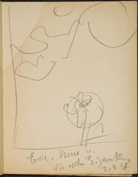 Skizze mit Bezeichnung (Sketch with Inscriptions) [p. 17]