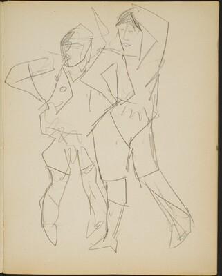 zwei posierende Figuren (Two Posing Figures) [p. 5]