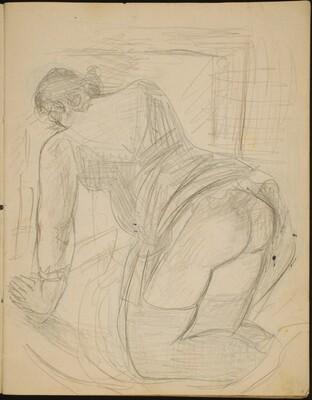 Kriechende Frau in Wäsche (Semi-Nude Woman Kneeling) [p. 5]