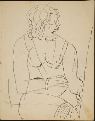 Sitzender weiblicher Akt (Nude Seated) [p. 7]