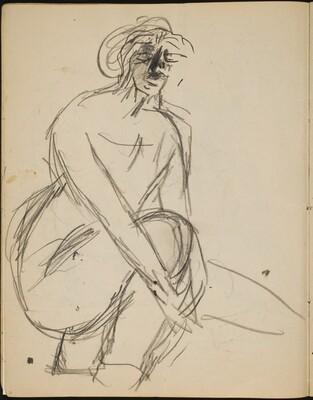 Weiblicher Akt in Strümpfen  (Female Nude in Stockings) [p. 10]