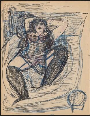 Liegende Frau in Wäsche (Half Nude Reclining) [p. 11]