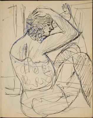 Sitzende Frau in Wäsche (Woman Seated in Profile) [p. 15]