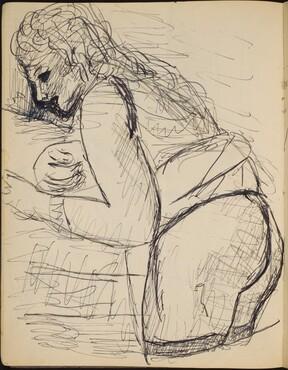 Sich nach vorne beugende Frau (Woman in Profile) [p. 16]