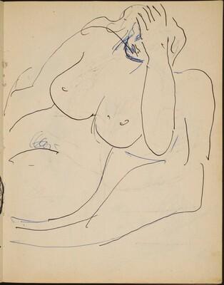 Sitzender weiblicher Akt (Seated Nude) [p. 17]