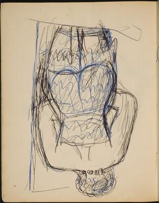 Frau in Wäsche in Rückenansicht (Nude from Behind) [p. 20]