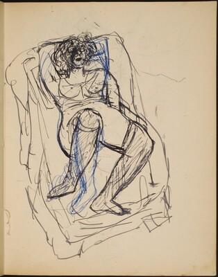 Liegende Frau in Wäsche (Half Nude Reclining) [p. 21]