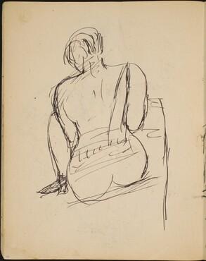 Sitzender Akt in Rückenansicht (Seated Nude from Behind) [p. 24]