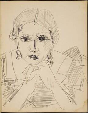 Weibliche Bildnisstudie (Portrait of a Woman) [p. 25]