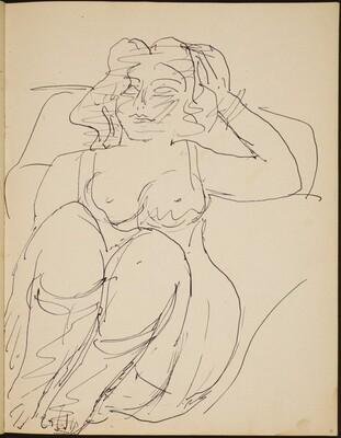 Sitzende Frau in Wäsche (Half Nude, Seated) [p. 31]