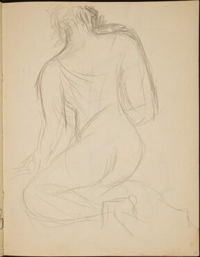 Hockender Akt in Rückenansicht (Kneeling Woman from Behind) [p. 35]
