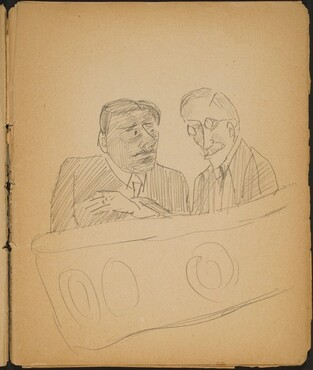 Zwei Männer in einer Loge (Two Men in a Theater Box) [p. 11]