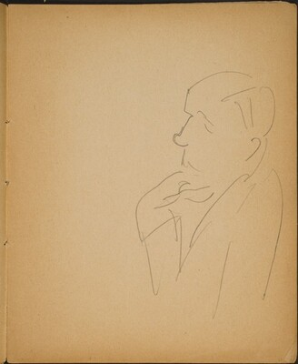 Männliche Halbfigur im Profil (Man in Profile) [p. 23]