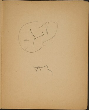 Zwei Gesichter (Sketches of Two Faces) [p. 37]