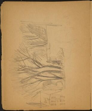 Landschaftsstudie mit Haus und Bäumen (Landscape with House and Trees) [p. 38]