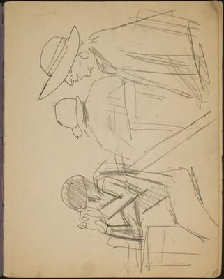 Zuschauer bei einem Pferderennen (Spectators at a Horse Race) [p. 1]