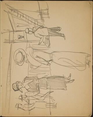 Figuren in einer Hotellobby (Socialites in a Hotel Lobby) [p. 3]