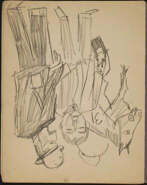 Rennpferd und zwei Männer (Racehorse and Two Men) [p. 12]