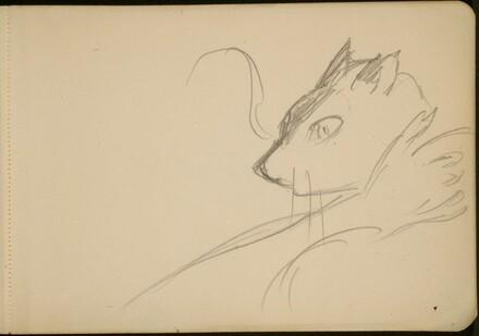 Studie einer Katze (Study of a Cat) [p. 3]