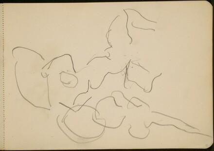 Flüchtige Studie zweier tanzender Figuren (Sketch of Dancing Figure) [p. 15]