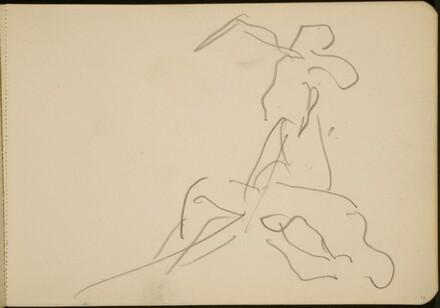 Flüchtige Studie zweier tanzender Figuren (Sketch of Dancing Figure)[p. 17]