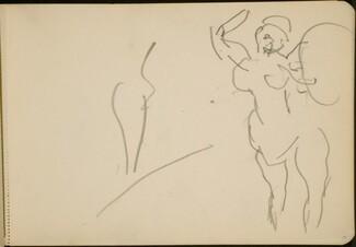 Stehende Akrobatin (Standing Female Acrobats) [p. 19]