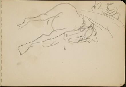 Liegendes oder gestürztes Pferd und Zuschauer (Reclining or Fallen Horse and Viewers) [p. 55]