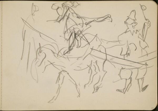 Manege mit Kunstreiter und Clown (Circus Ring with Rider and Clown) [p. 59]