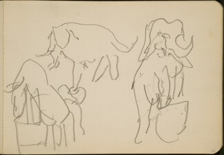 Zirkusnummer mit Elefanten (Circus Act with Elephants) [p. 67]