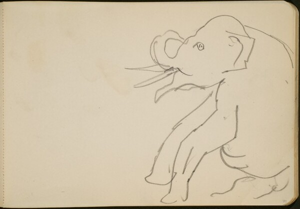 Sitzender Elefant (Seated Elephant) [p. 73]