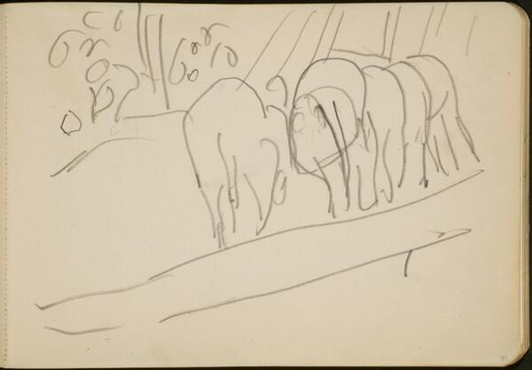 Zirkusnummer mit Elefanten (Elephants Performing) [p. 75]