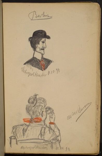 Two Studies of Spectators at the Metropol Theater