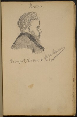 Study of a Bearded Man in Profile to the Right