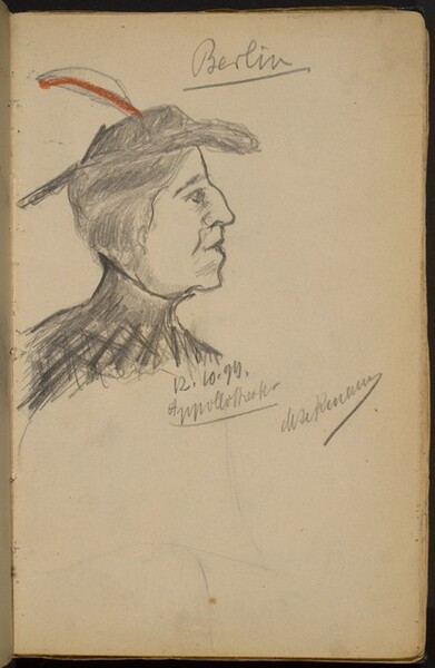 Woman in Profile to the Right