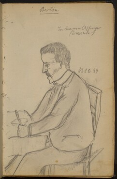 Man Seated at a Dining Table