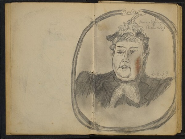 Head of a Woman in an Oval Frame