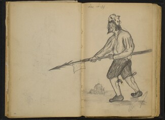 Man Holding a Spear
