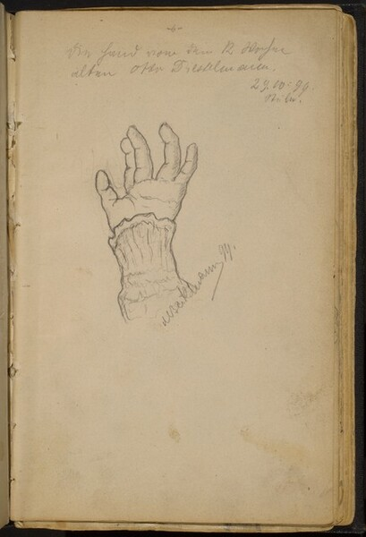 Study of a Left Hand