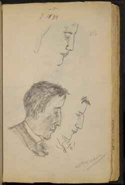 Studies of a Man's Profile