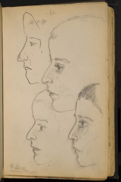 Studies of a Boy's Profile to the Left