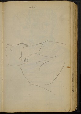 Sketch of a Figure with His Head Resting on Hand