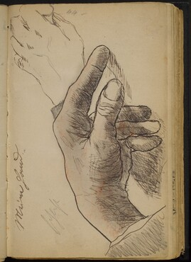Two Studies of a Left Hand