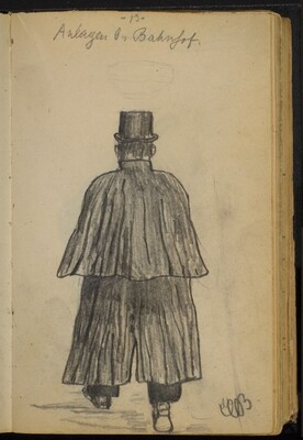 Man Walking in Top Hat and Long Coat