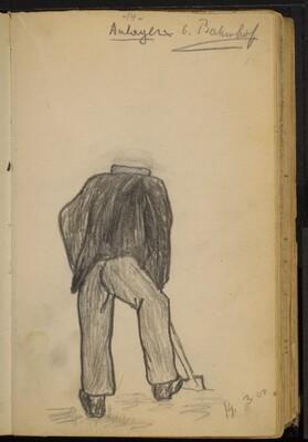 Unfinished Study of a Man Shoveling