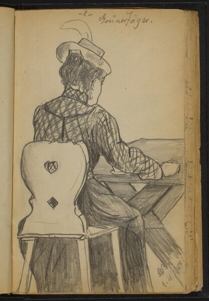 Seated Woman at a Table