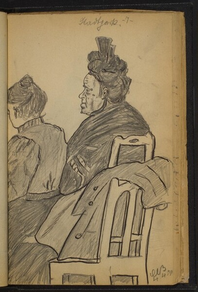 Two Seated Women Facing Left