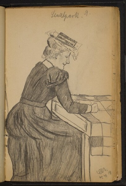 Woman Seated at a Table