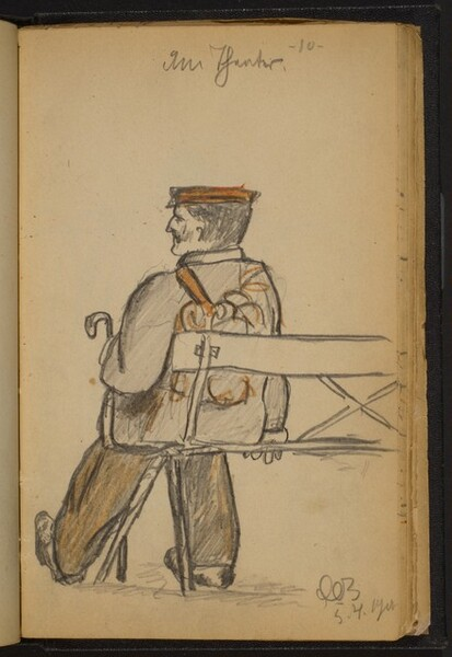 Man Seated on a Bench