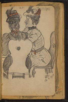 Two Women Seated at a Table